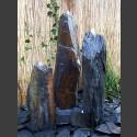 Triolithen Komplettbrunnen grauschwarzer Schiefer 150cm