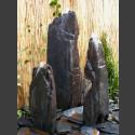 Triolithen Quellsteine grau-schwarzer Schiefer 150cm