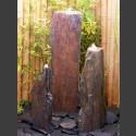 Triolithen Quellsteine grau-brauner Schiefer 95cm
