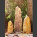 Triolithen Quellsteine rot-bunter Schiefer 75cm
