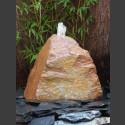 Quellstein Felsen rot-bunter Schiefer 45cm