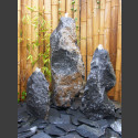 Belgisch Granit Gartenbrunnen 3er Set 85cm