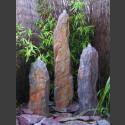 Triolithen Quellsteine rot-bunter Schiefer 95cm