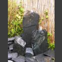 Triolithen Komplettbrunnen grauschwarzer Schiefer 50cm