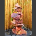 Kaskaden Komplettset Brunnen roter Sandstein 110cm