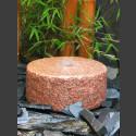 Mühlsteinbrunnen roter Granit 30cm