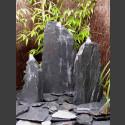 Triolithen Quellsteine grau-schwarzer Schiefer 75cm