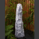 Quellstein Säule Marmor weißgrau 95cm