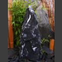 Quellstein Säule Marmor schwarzweiß 65cm