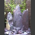 Triolithen Quellsteine lila Schiefer 95cm
