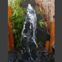 Quellstein Säule Marmor schwarzweiß 80cm
