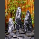 Triolithen Komplettset schwarz-weißer Marmor bruchrau 75cm