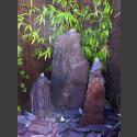 Triolithen Brunnen lila Schiefer 95cm