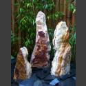Triolithen Gartenbrunnen bruchrauer Onyx 80cm