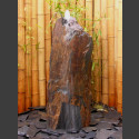 Komplettset Brunnen graubrauner Schiefer 95cm