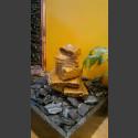 Zimmerbrunnen Sandstein Kaskade beige 5fach in 4eckigem Granitbecken