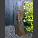 Monolith grau-brauner Schiefer 108cm hoch