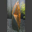 Monolith schwarz bunter Schiefer 111cm hoch