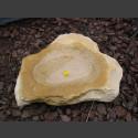 Vogeltränke beiger Sandstein 50cm