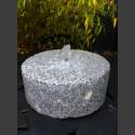 Mühlsteinbrunnen grauer Granit 30cm