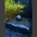 Schiefer Kissen Quellstein mit drehender Marmorkugel 18cm