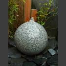 Kugelbrunnen grauer Granit poliert 30cm