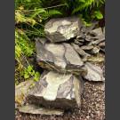 Naturstein-Bachlauf grau-schwarzer Schiefer 1m