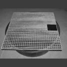 PE-Becken rund mit Abdeckgitter 100cm eckig