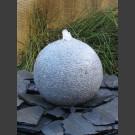 Granit Kugel Sprudelstein grau 40cm