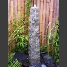 Quellstein Obelisk grauer Granit 120cm