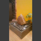 Zimmerbrunnen Findling roter Granit in 4eckigem Granitbecken