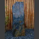 Monolith grau-brauner Schiefer 125cm hoch