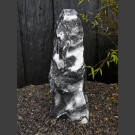Alaska Marmor Monolith schwarz-weiß 82cm