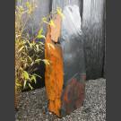 Schiefer Monolith schwarz-bunt 117cm hoch