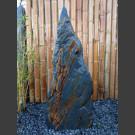 Schiefer Monolith schwarz-gelb 108cm hoch