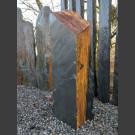 Schiefer Monolith schwarz-gelb 92cm hoch