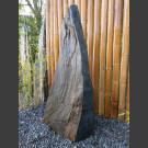 Schiefer Monolith schwarz-gelb 118cm hoch
