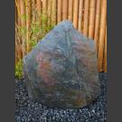 Schiefer Felsen schwarz rot 73cm hoch