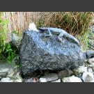 Diabas Quellstein Brunnen mit Echse