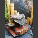 Kaskaden Quellstein schwarz-roter Schiefer 5teilig