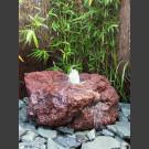 Quellstein ausgehöhlte Lava 25cm