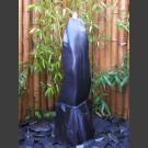 Marmor Komplettset Brunnen schwarz poliert 100cm