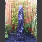 Marmor Komplettset Brunnen schwarz 120cm