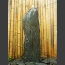 Schiefer Monolith Quellstein  graubraun 120cm hoch