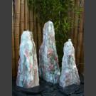 Marmor Brunnen 3er Set weiß rosa 95cm