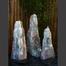 3 Monolithen Quellsteine weiß-rosa Marmor 95cm
