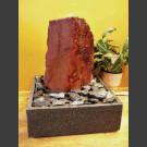 Zimmerbrunnen Felsen roter Sandstein in 4eckigem Granitbecken
