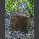 Naturstein Basalt Felsen grün-schwarz 62cm