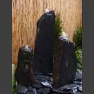Triolithen Komplettbrunnen grauschwarzer Schiefer 95cm
