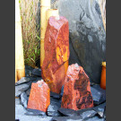 Triolithen Quellsteine roter Sandstein 50cm